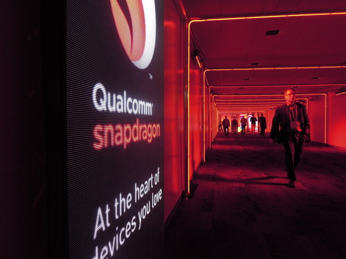 Qualcomm sponsored the tunnel between Moscone Center's North and South halls. It was just like being in Tron, but without the cool motorcycles.