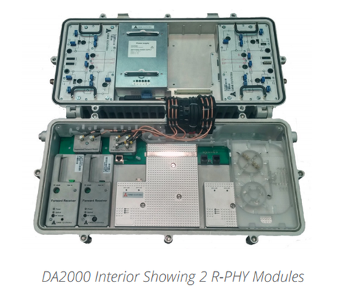 Casa distributed access node with Remote PHY modules