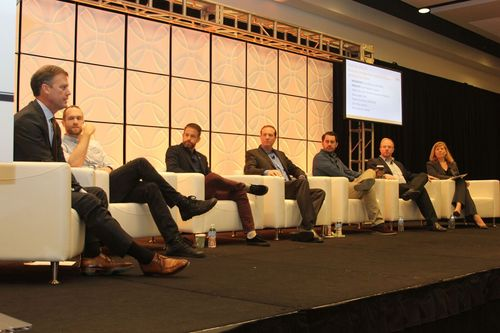 Incompas panel moderated by CEO Chip Pickering (far left) and including Evan Engstrom of Engine; Matt Fuller of the San Francisco Association of Realtors; Dane Jasper of Sonic; Tom Tarantino of Twitter; Chris Riley of Mozilla and Angie Kronenberg of Incompas.  (Source: Incompas)