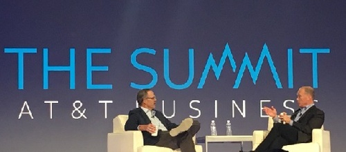 (L to R) Glenn Hutchins, North Island Ventures; and John Donovan, AT&T.