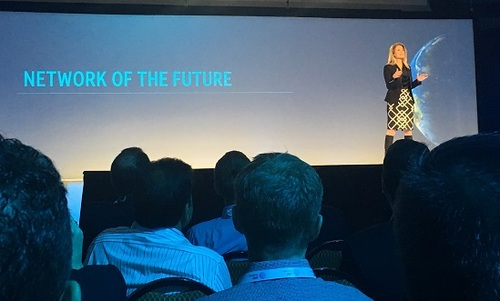 AT&T's Melissa Arnoldi delivered a keynote on the 'Network of the Future.'