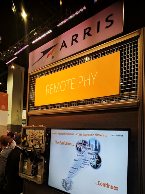 Arris showed off its Remote PHY solution at the SCTE/ISBE Cable-Tec Expo.