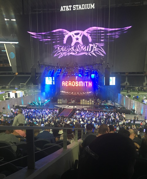 Aerosmith rounded out the AT&T Summit with crowd-pleasing classics like 'Livin' on the Edge,' 'I don't wanna miss a thing,' and 'Sweet Emotion.' Steven Tyler and fellow band members proved age is just a number when it comes performing classic rock.