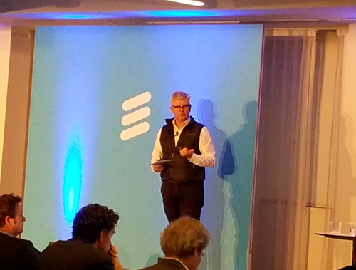 Ericsson CEO Ekholm came dressed prepared for a grilling from the crowd of financial analysts.
