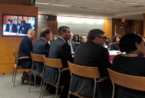 FCC Chairman Ajit Pai and Commissioners Mignon Clyburn and Michael O'Rielly attended the November BDAC meeting early in the day.