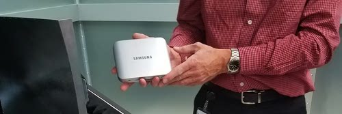 Verizon shows off Samsung's fixed 5G gear as it tests units in Basking Ridge, NJ.