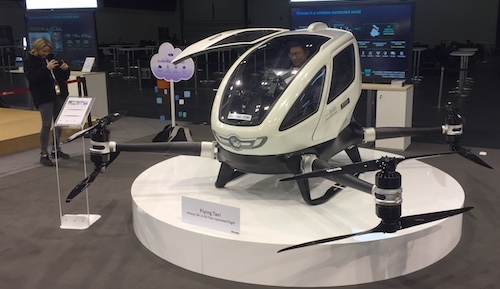 One of several technologies that Huawei showed off at last week's Global Mobile Broadband Forum, the flying taxi will account for a quarter of citizens' journeys by 2030, according to Dubai's transportation authority. Whether 5G will by then have given way to 6G is another matter...