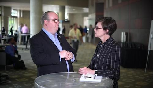 BT's Chief Architect Neil McRae (seen here talking to Light Reading's Liz Coyne earlier this year) believes that 'Information is the starting point for 5G -- visibility gives us control.'