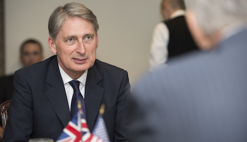 Philip Hammond, the UK's finance minister, gets the Union Jack out for next-generation technology.