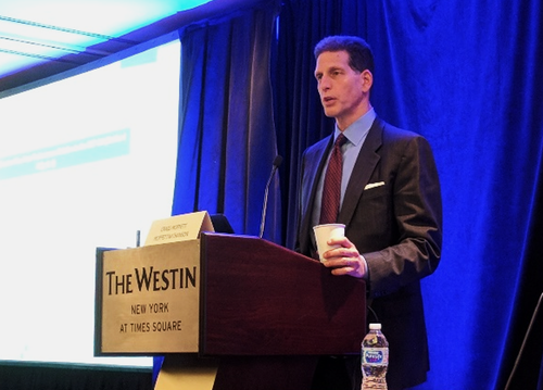 Craig Moffett, senior research analyst at MoffettNathanson, speaks at the Light Reading Future of Cable Business Services event