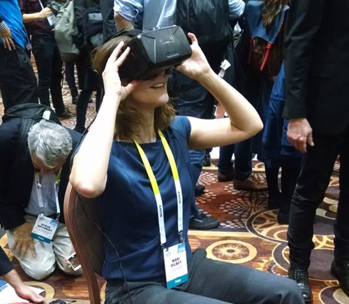 Editor Mari Silbey tests cutting-edge VR gear at CES 2016