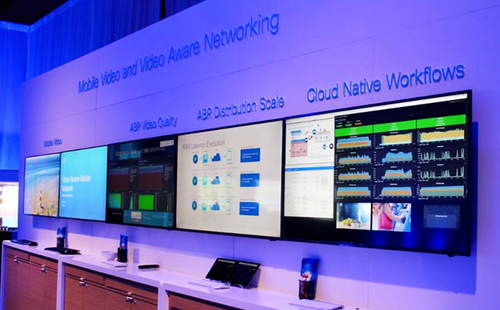 Cisco photo inside the demo room at CES 2018