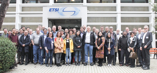 The Zero touch network and Service Management Industry Specification Group (ZSM ISG) kick-off meeting attendees at ETSI's HQ, with DT's Klaus Martiny on the far right.