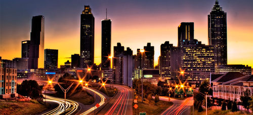 AT&T image of Atlanta as a smart city.