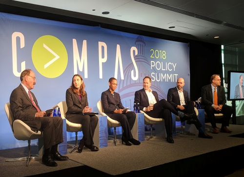 Access head of policy John Burchett sits second from right above at the Incompas Policy Summit in Washington DC.