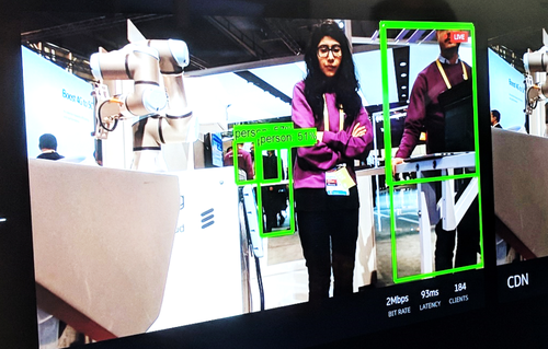 Ericsson demo shows an edge computing application for real-time object identification in streaming video.