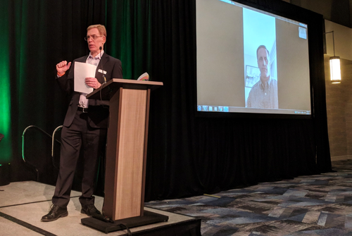 Light Reading's Alan Breznick spoke to Comcast's Rob Howald via video link at the Cable Next-Gen event after a storm closed airports on the east coast.