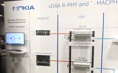 Nokia showed how its nodes could be used for Remote-PHY or Remote MAC/PHY at the SCTE Cable-Tec Expo in 2017.
