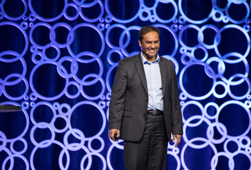 CenturyLink's Aamir Hussain delivering a keynote address at last year's BCE.