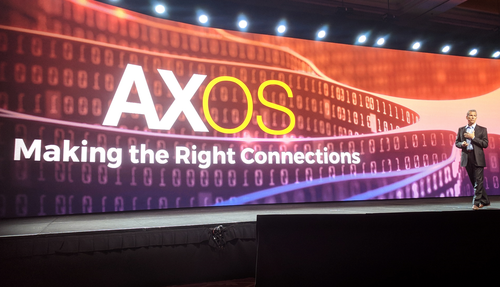 CEO Carl Russo talked about AXOS on stage at the annual Calix user conference in 2017.