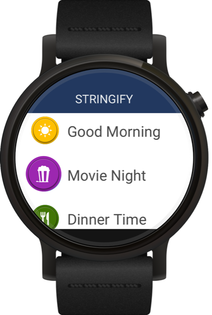 Rendering of Comcast Android Wear app