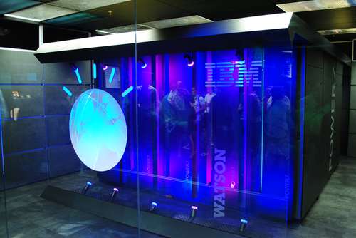 IBM Watson prototype, 2011. Photo by Clockready - Own work, CC BY-SA 3.0, Link