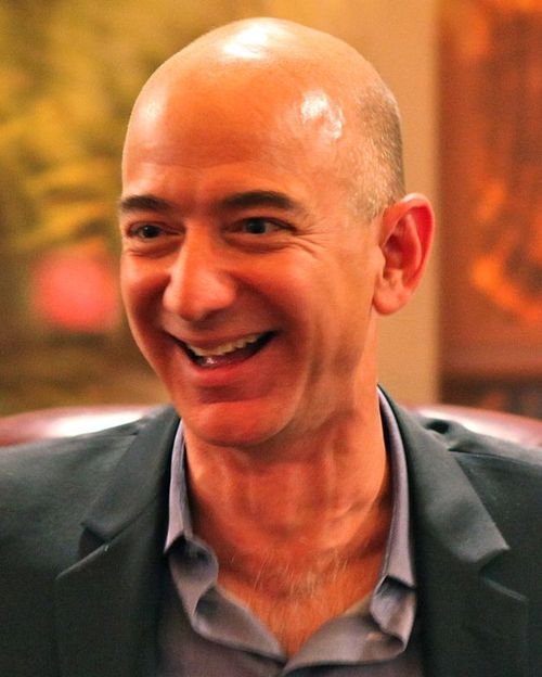 Jeff Bezos has 51.04 billion reasons to smile this quarter. Photo by Steve Jurvetson (Flickr: Bezos' Iconic Laugh) [CC BY 2.0], via Wikimedia Commons