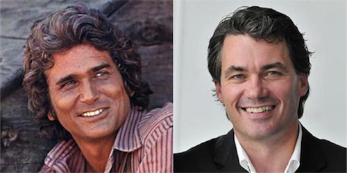 Michael Landon, star of 1970s TV series Little House on the Prairie, and BT boss Gavin Patterson bear more than a passing resemblance.