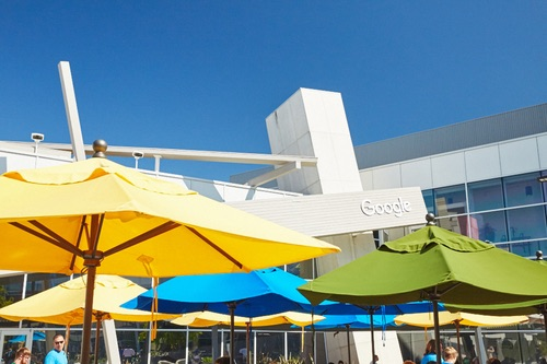 Google campus -- the Googleplex. Photo by Google.