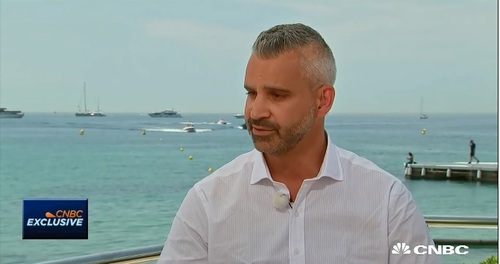 Brian Lesser in his CNBC interview from Cannes.
