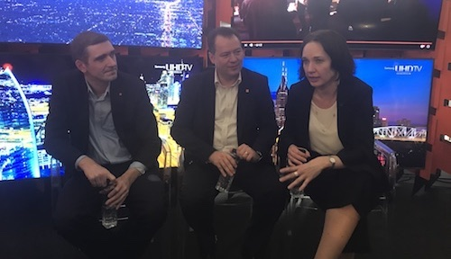 From left to right: Arnaud Vamparys, Orange's senior vice president of radio networks; Stefan Slavnicu, Orange Romania's chief technology officer; Liudmila Climoc, Orange Romania's CEO.