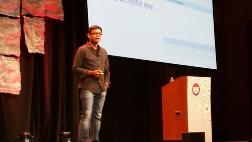 Vintage Bikash Koley, from his days at Google, doing a BCE keynote in Chicago.