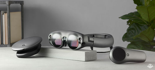 AT&T will let consumers demo Magic Leap's product/platform at stores around the nation. Pictured is the Magic Leap One, Creator Edition.