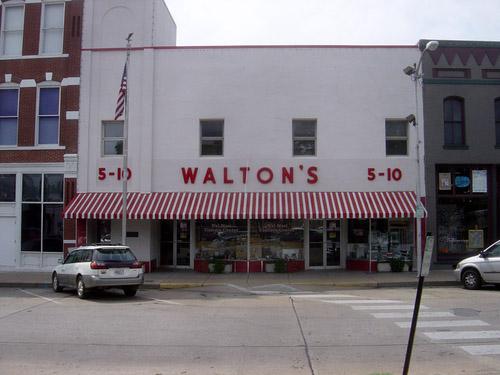 Sam Walton's original five and dime, now the Walmart visitor's center, Bentonville, Ark. Photo by Bobak Ha'Eri (CC BY-SA 2.5)