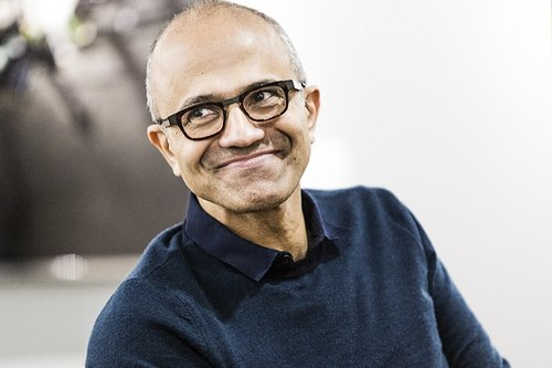 Photo by Brian Smale and Microsoft (Satya Nadella Microsoft leadership profile page) [CC BY-SA 4.0 ], via Wikimedia Commons