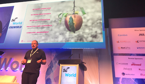 Kim Larsen, the CTIO of Magyar Telekom, speaks at the 5G World Summit in London in June.