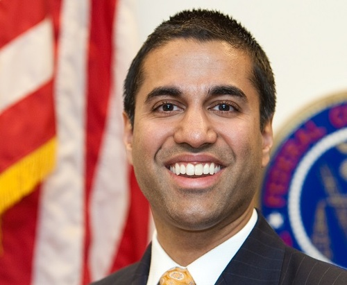 Shown: FCC Chair Ajit Pai. Not shown: Fiery pants. Source: FCC
