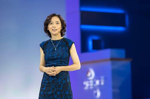 Fei-Fei Li, chief scientist, AI/ML, vice president, Google Cloud, at Google Cloud Next conference last month.