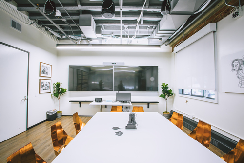 The StudioLAB collaboration room puts Cisco's Webex video conferencing front and center. Photo courtesy of The Walt Disney Studios.