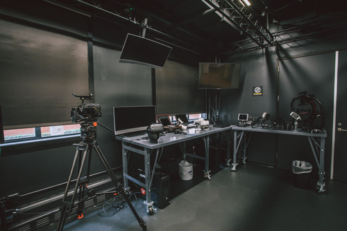 A workbench in the StudioLAB has a lot of consumer and professional 'toys' for content creators to take on storytelling challenges. Photo courtesy of The Walt Disney Studios.