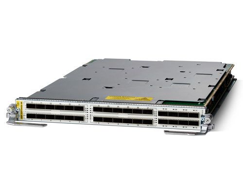 A new line card, one of three, for the new Cisco ASR 9000 series routers.