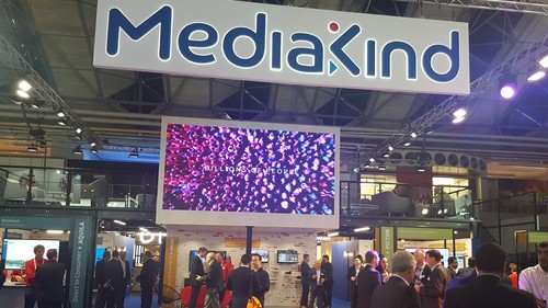 The MediaKind stand at IBC was busy even in the early stages of the show.