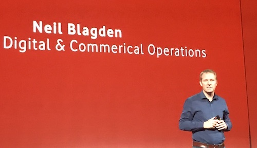 Neil Blagden, Vodafone UK's director of digital and commercial operations, says customers love the operator's TOBi chatbot. (But TOBi failed to spot the typo.)