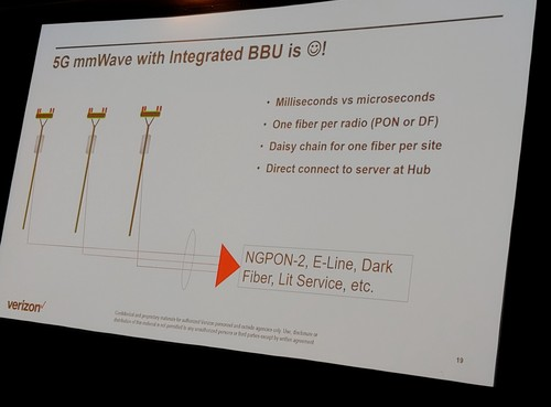This is one 5G integration option. The 3GPP is also examining 5G mmWave integrated with backhaul. There's no word yet on when that integration might be available.