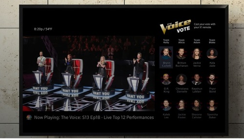 Comcast's use of deep metadata tech enables it to trigger interactive apps, such as viewer voting, at the right time.