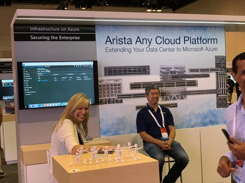 Arista at Microsoft Ignite last month. They seem to be enjoying themselves.