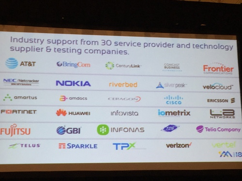The 30 companies backing MEF's SD-WAN standards.