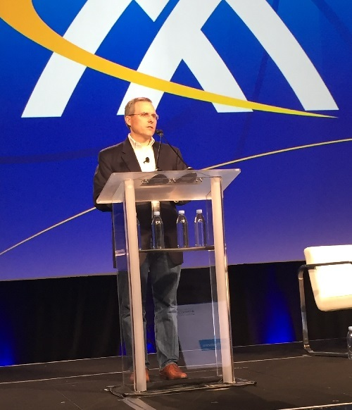 Comcast Business' Kevin O'Toole delivered a keynote at MEF18 this week.