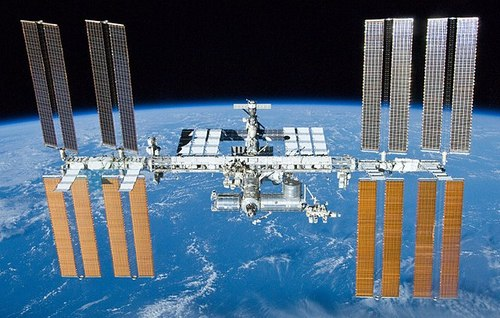 The International Space Station in 2010