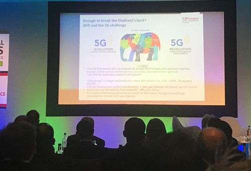 Attendees at this week's Wireless Global Congress gather round for a glimpse of the fabled 5G elephant.